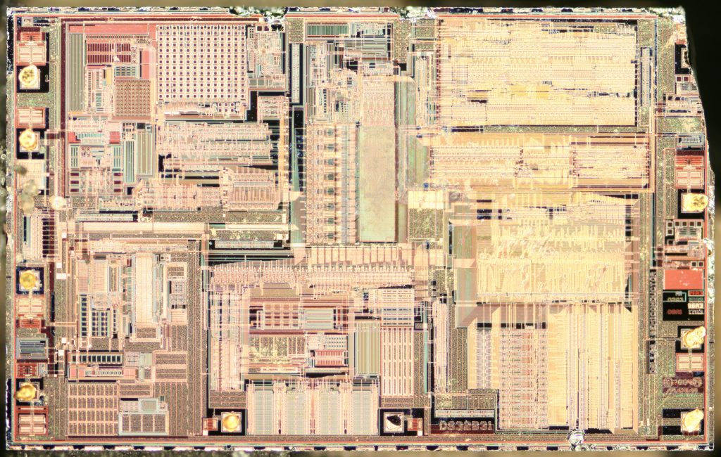 A high-resolution composite image of the entire die.