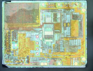 A die shot of the DS3231M realtime clock chip
